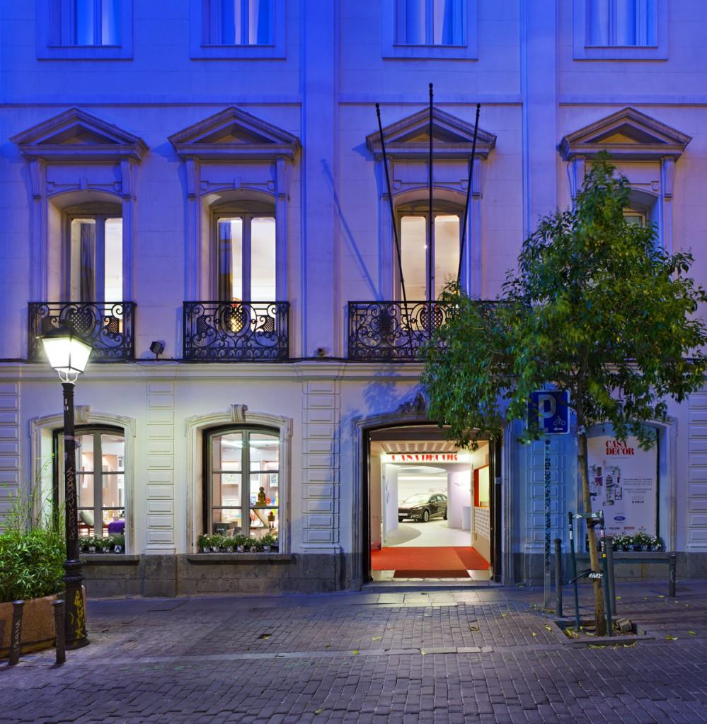 iluminacion de la fachada